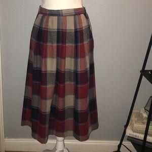 🌵SAG HARBOR Vintage Plaid Wool Plaid Skirt SZ 12